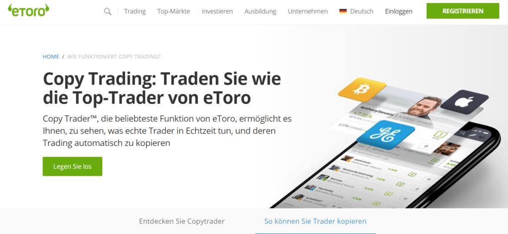 Copy-Trading bei eToro