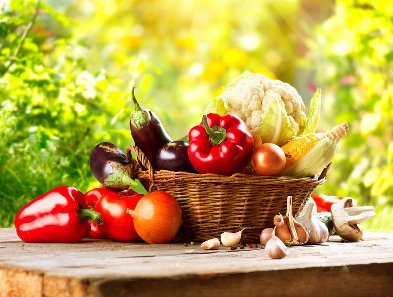 Geld sparen mit selbst angebauten Obst und Gemüse - hier Gemüsekorb
